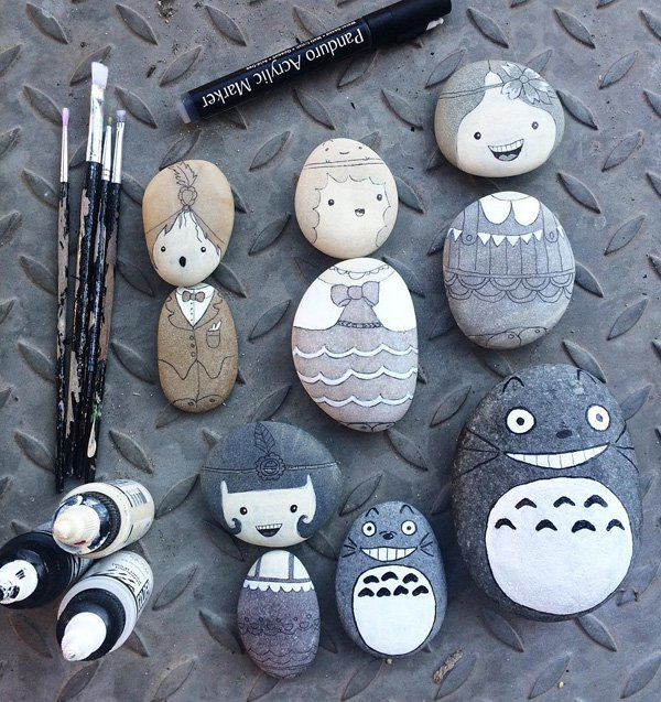 DIY ιδέες διακόσμησης με βαμμένες πέτρες και βότσαλα28