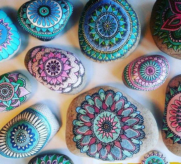 DIY ιδέες διακόσμησης με βαμμένες πέτρες και βότσαλα33