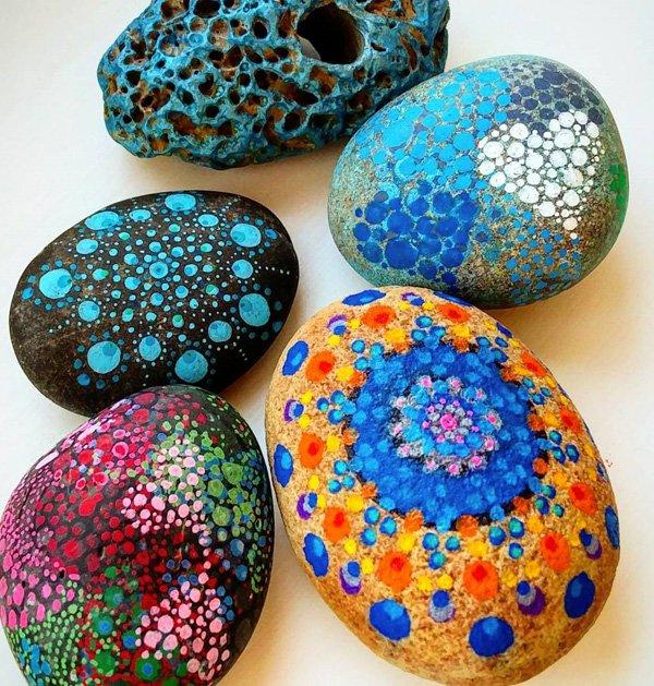 DIY ιδέες διακόσμησης με βαμμένες πέτρες και βότσαλα34