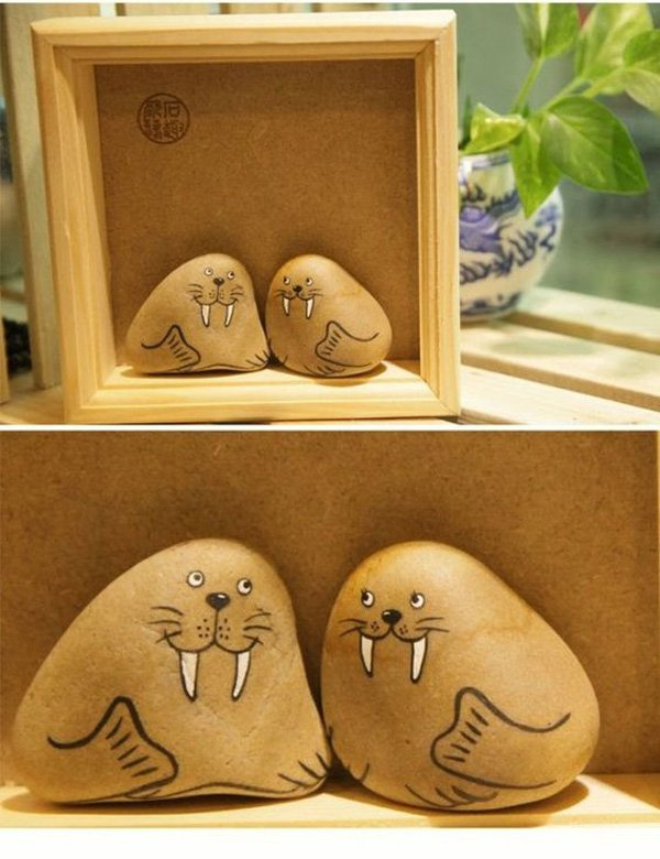 DIY ιδέες διακόσμησης με βαμμένες πέτρες και βότσαλα6