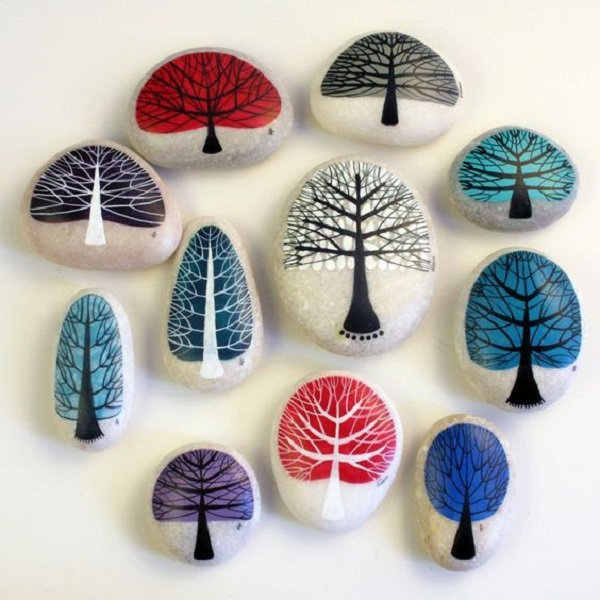 DIY ιδέες διακόσμησης με βαμμένες πέτρες και βότσαλα7