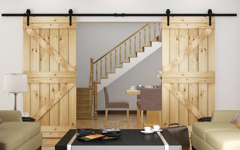 πόρτες αχυρώνα στη διακόσμηση24