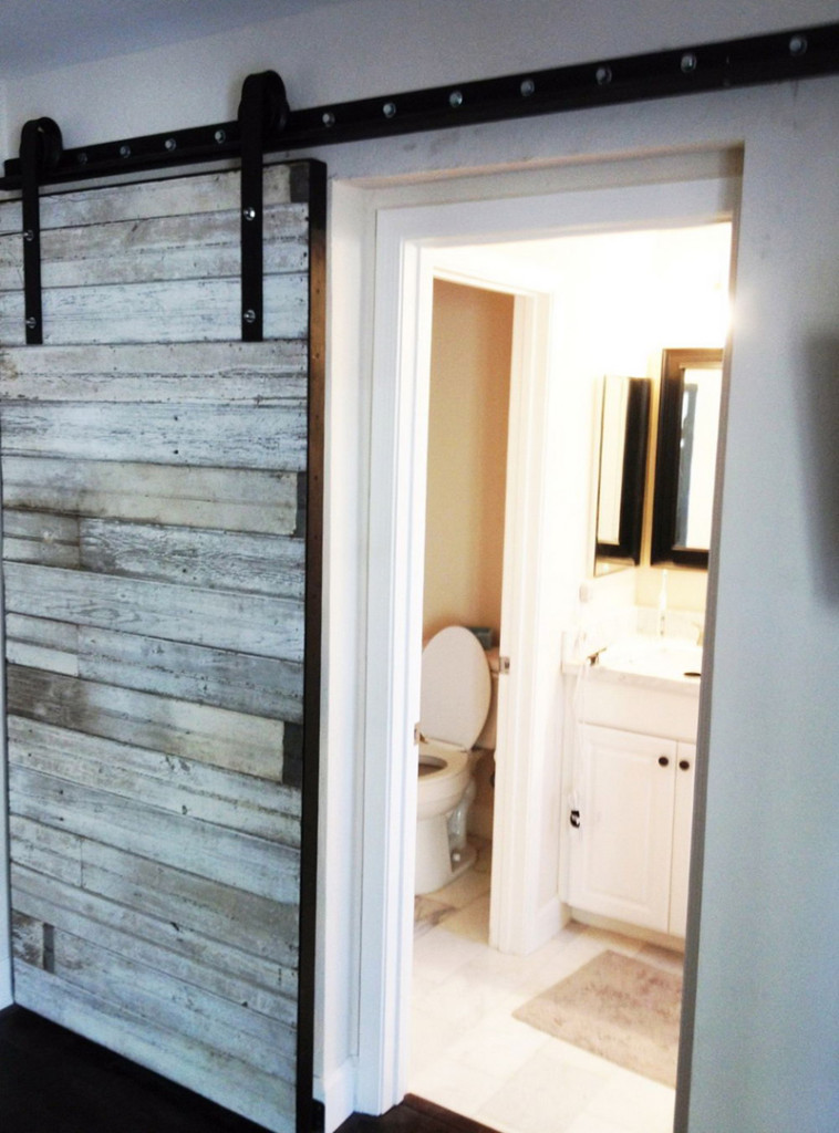 white sliding closet barn doors