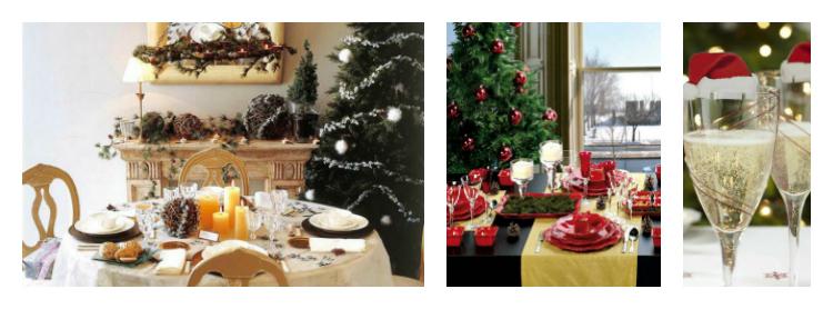 Τραπεζαρία: Εορταστική διακόσμηση για τα επερχόμενα Χριστουγέννα