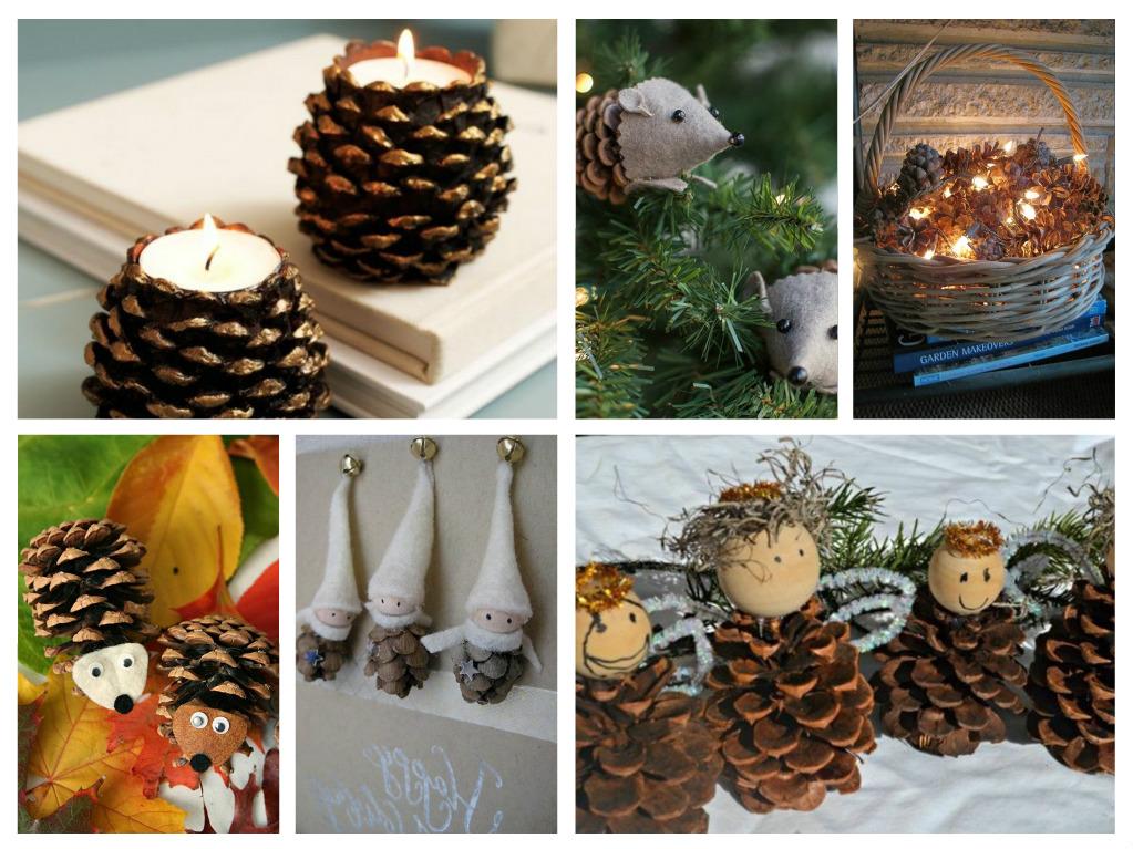 Κουκουνάρια για την διακόσμηση των Χριστουγέννων - 58 παραμυθένιες ιδέες σε εικόνες