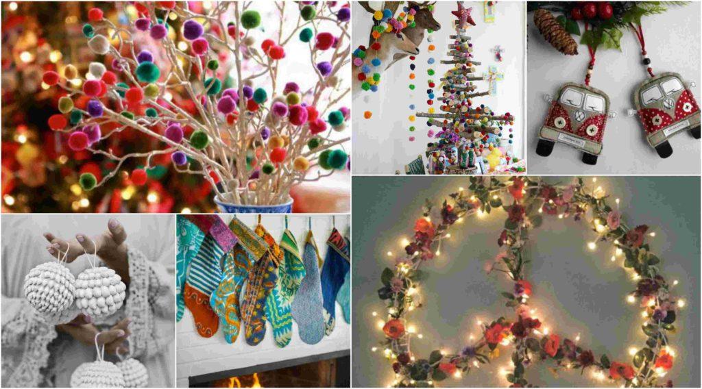 43 Πολύχρωμες ιδέες Boho Chic Χριστουγεννιάτικης διακόσμησης