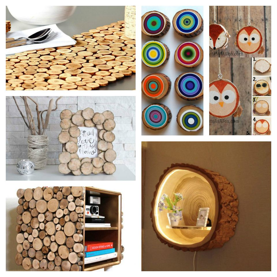 30+ Απίθανες DIY Ιδέες από φέτες ξύλου