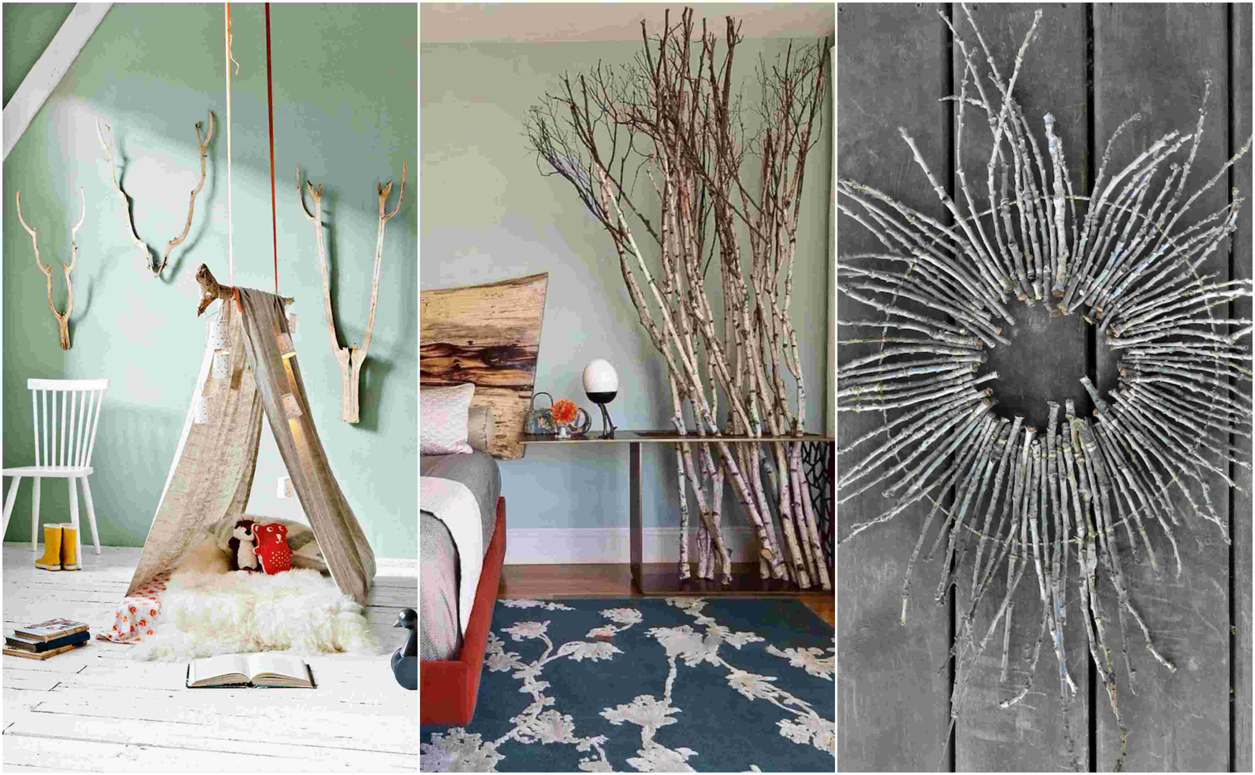 Διακόσμηση από κλαδιά ξύλου 30 καλλιτεχνικές ιδέες
