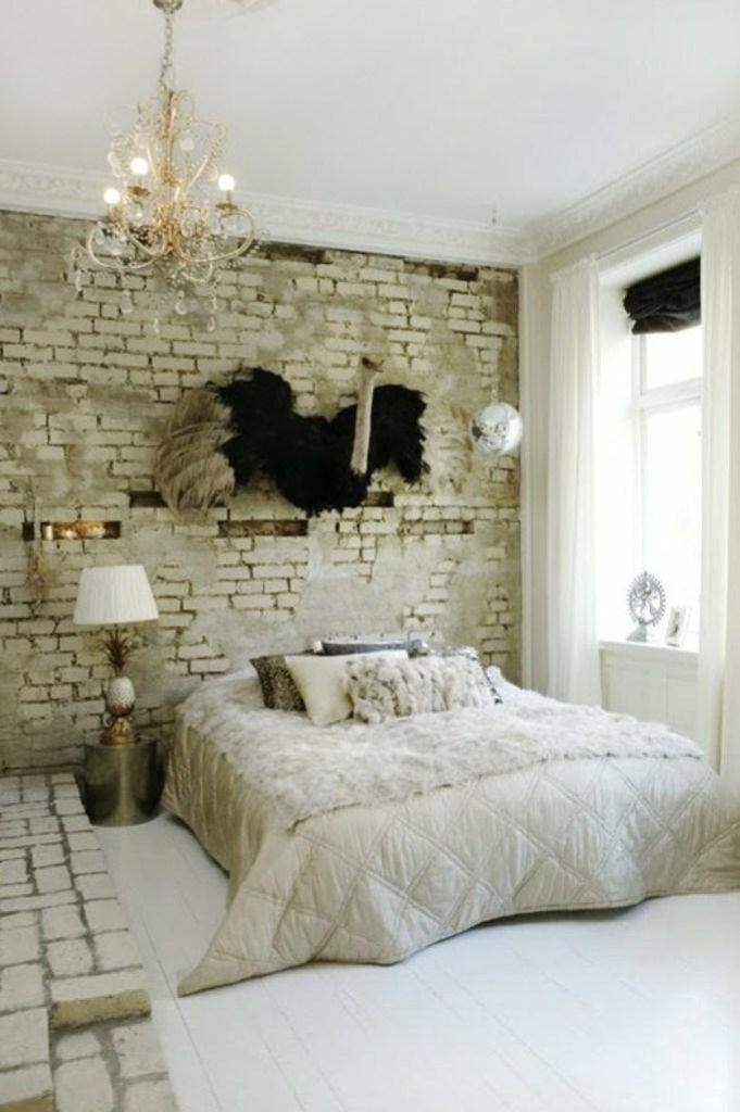 Ιδέες διακόσμησης για ένα τοίχο από τούβλα23