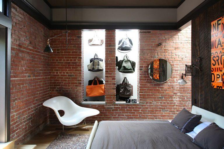 Ιδέες διακόσμησης για ένα τοίχο από τούβλα7