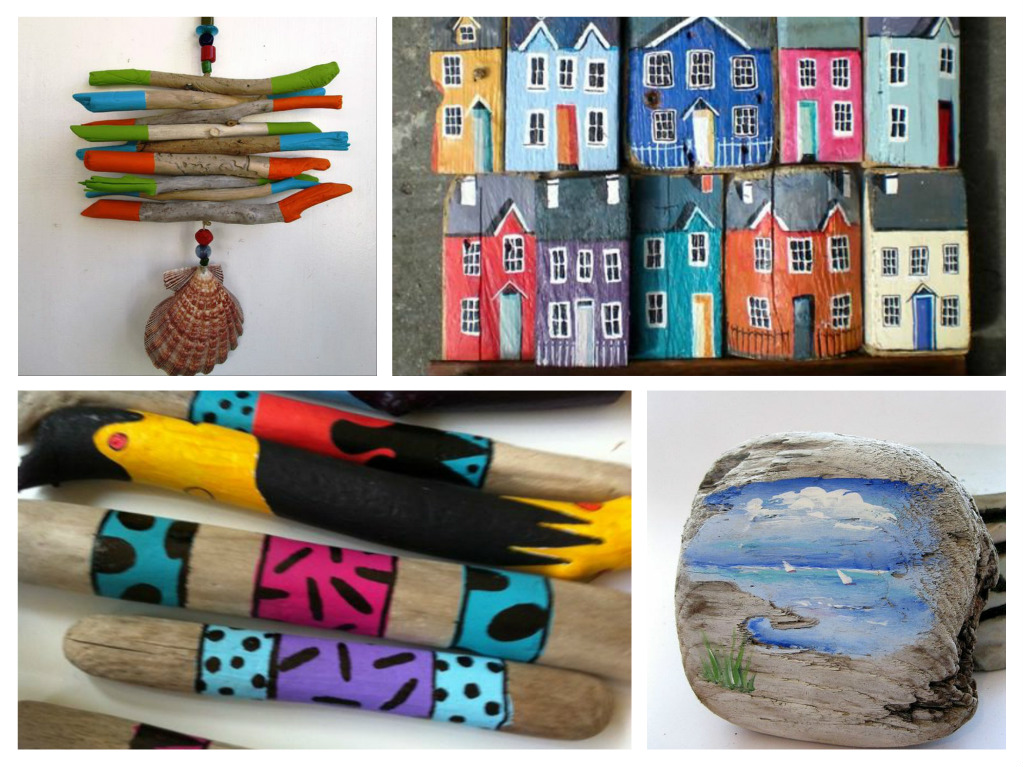 Diy δημιουργίες από βαμμένα θαλασσόξυλα - δώστε χρώμα στο ντεκόρ σας