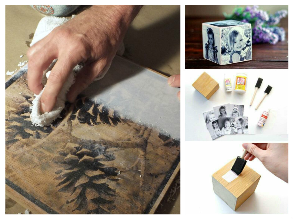 DIY ιδέες για να μεταφέρετε φωτογραφίες σε ξύλο