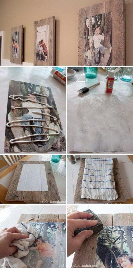 DIY ιδέες για να μεταφέρετε φωτογραφίες σε ξύλο3