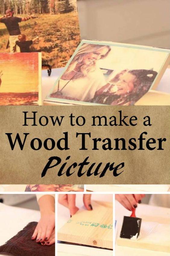 DIY ιδέες για να μεταφέρετε φωτογραφίες σε ξύλο5