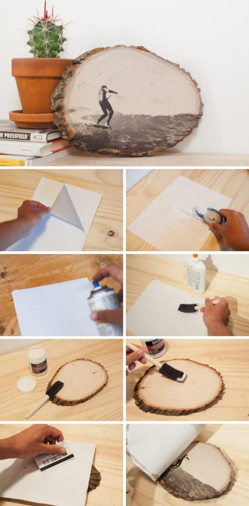 DIY ιδέες για να μεταφέρετε φωτογραφίες σε ξύλο6