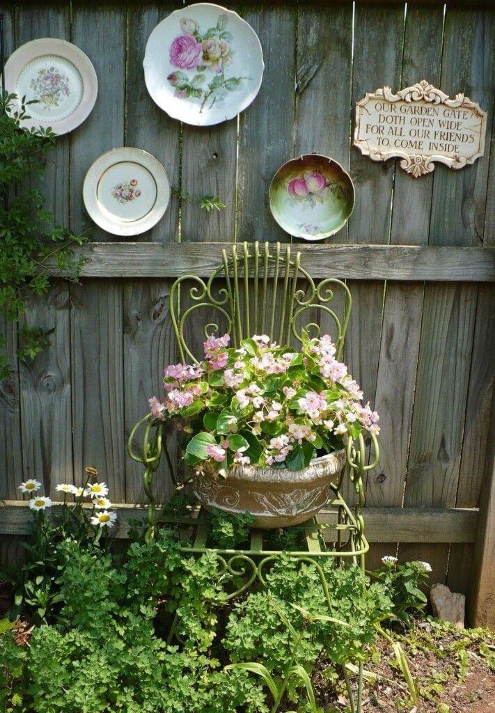 Vintage ιδέες διακόσμησης κήπου1