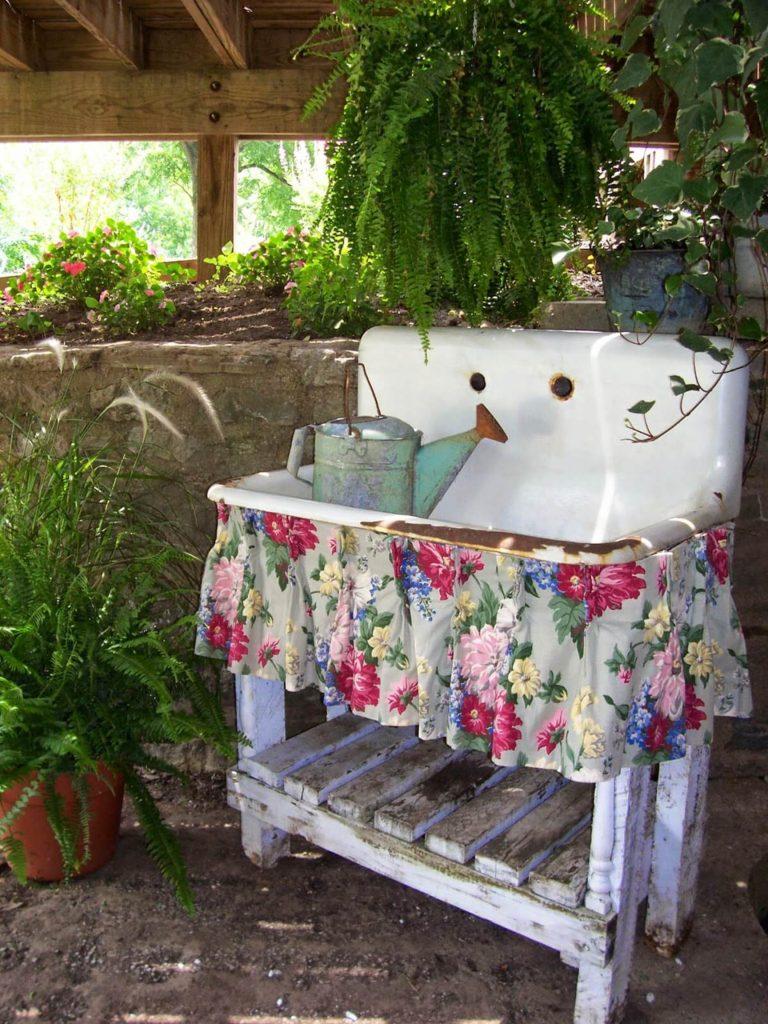 Vintage ιδέες διακόσμησης κήπου11