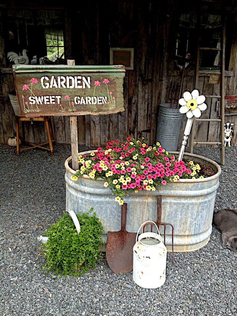 Vintage ιδέες διακόσμησης κήπου13