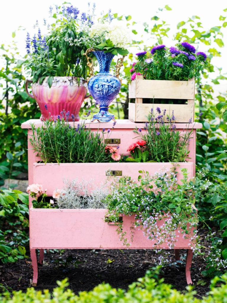 Vintage ιδέες διακόσμησης κήπου19