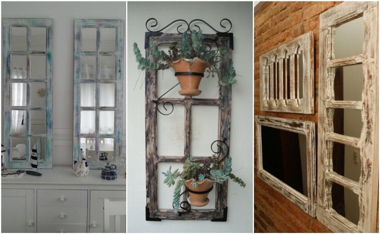ιδέες διακόσμησης από παλιά παραθυρόφυλλα