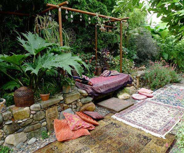 ιδέες στολισμού κήπου στο μποέμικο στυλ10