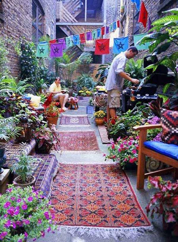 ιδέες στολισμού κήπου στο μποέμικο στυλ15
