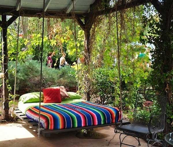ιδέες στολισμού κήπου στο μποέμικο στυλ16
