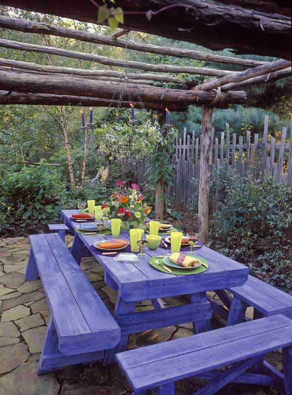 ιδέες στολισμού κήπου στο μποέμικο στυλ18