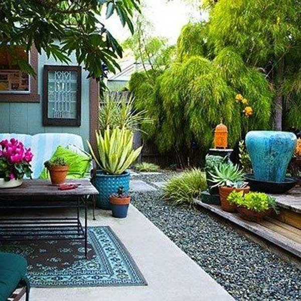 ιδέες στολισμού κήπου στο μποέμικο στυλ29
