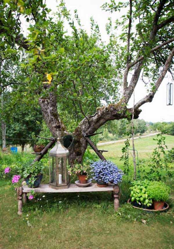 ιδέες στολισμού κήπου στο μποέμικο στυλ5