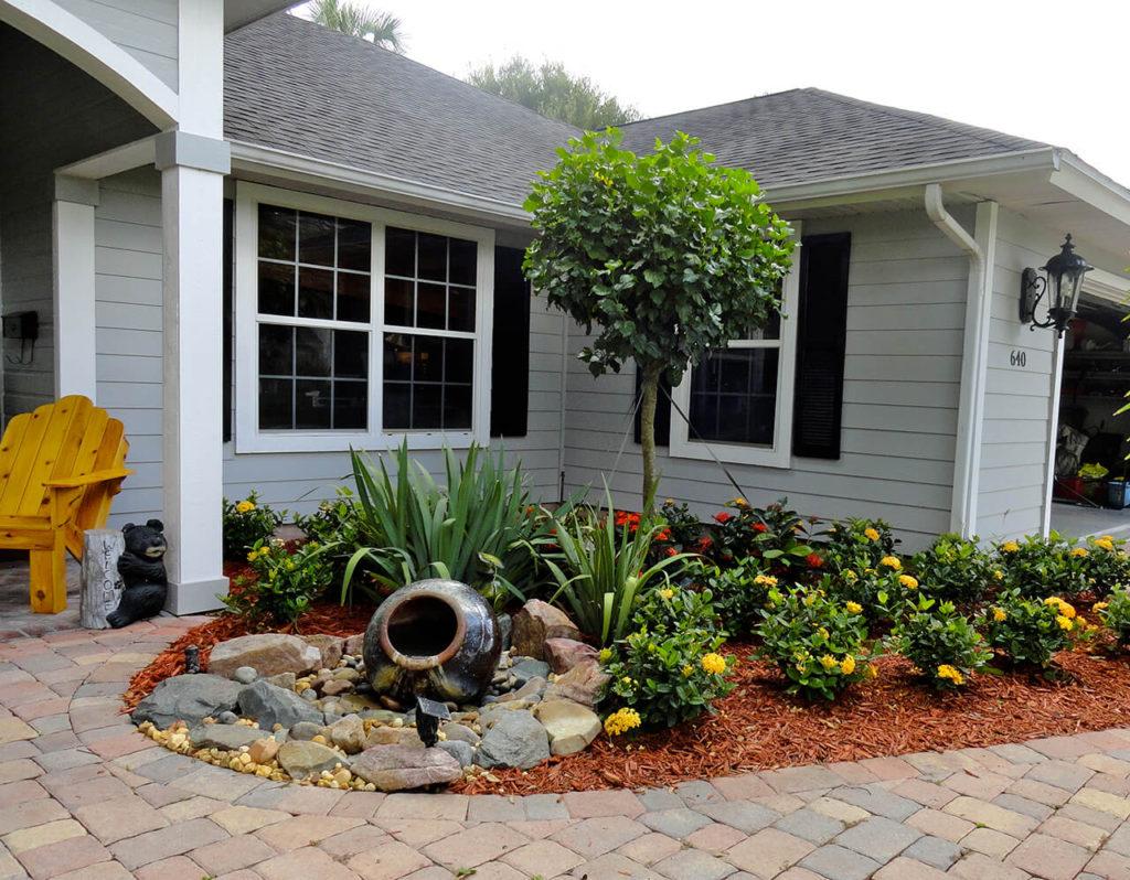 ιδέες σχεδιασμού μπροστινού κήπου και αυλής2