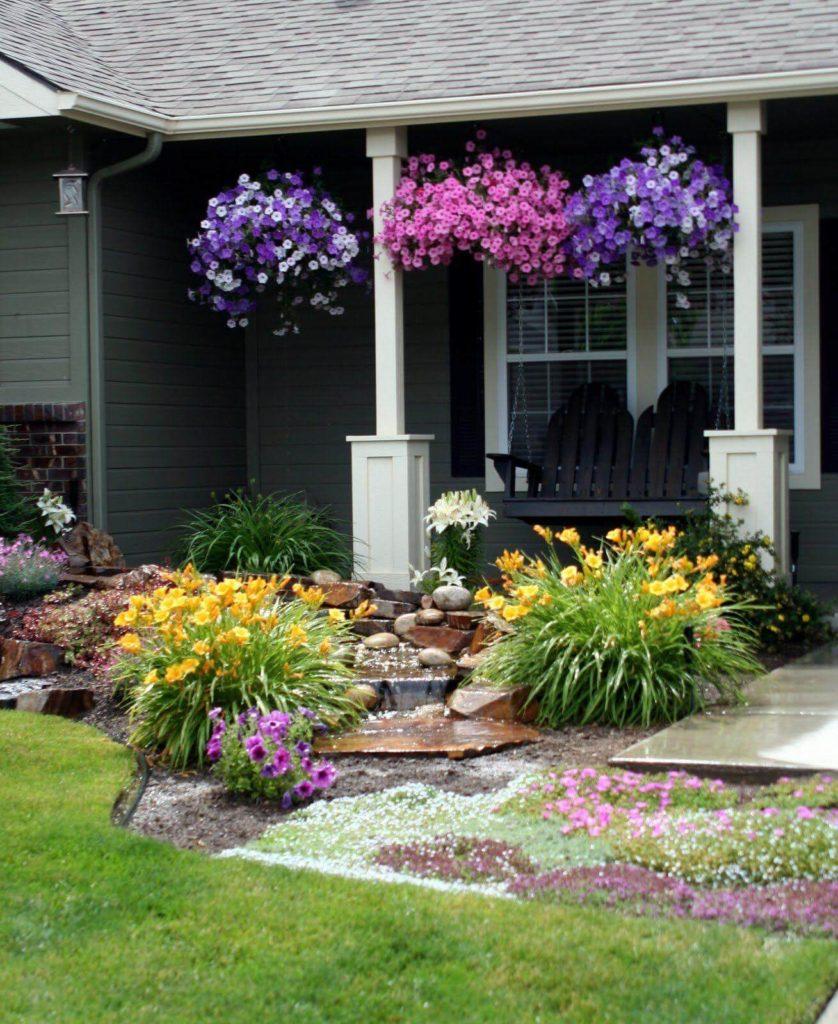 ιδέες σχεδιασμού μπροστινού κήπου και αυλής20