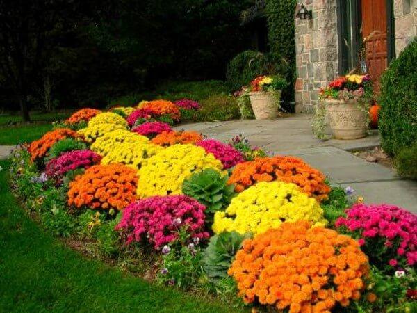 ιδέες σχεδιασμού μπροστινού κήπου και αυλής34
