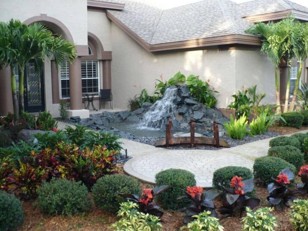 ιδέες σχεδιασμού μπροστινού κήπου και αυλής39