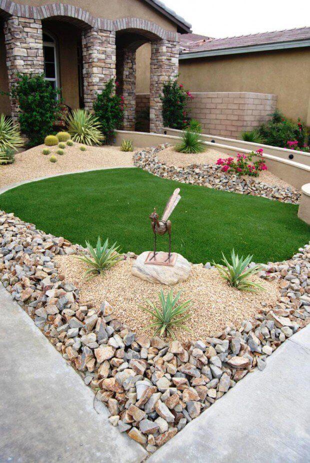 ιδέες σχεδιασμού μπροστινού κήπου και αυλής44
