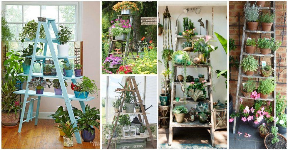 10 εντυπωσιακές ιδέες για να φτιάξετε το δικό σας κήπο ξύλινη σκάλα