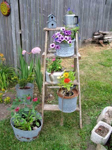 κήπος ξύλινη σκάλα10
