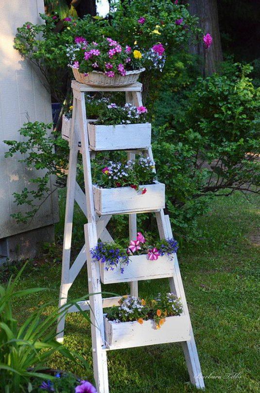 κήπος ξύλινη σκάλα8