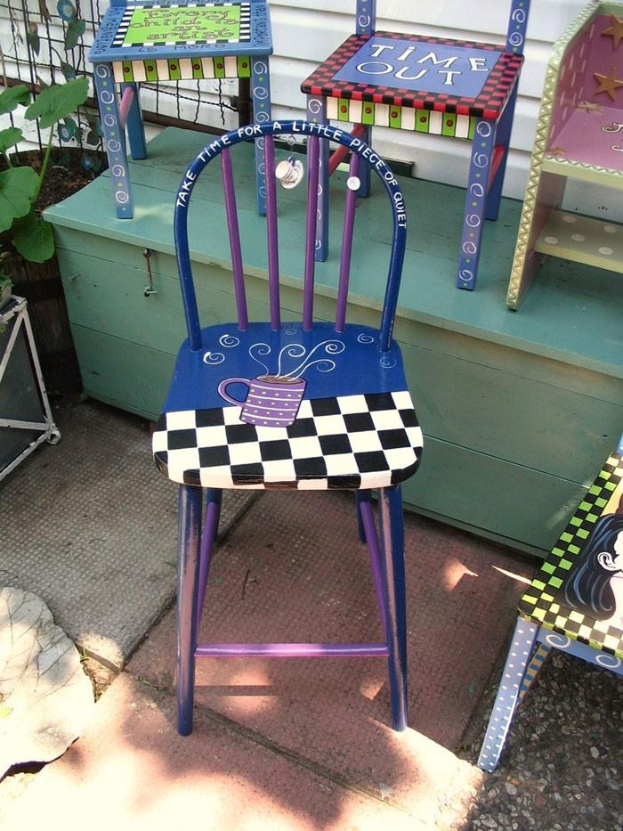 πώς να διακοσμήσετε και να βάψετε παλιές καρέκλες12