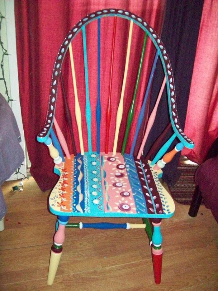 πώς να διακοσμήσετε και να βάψετε παλιές καρέκλες16