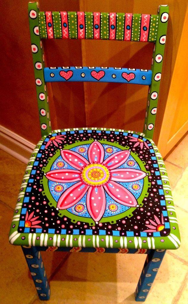 πώς να διακοσμήσετε και να βάψετε παλιές καρέκλες2