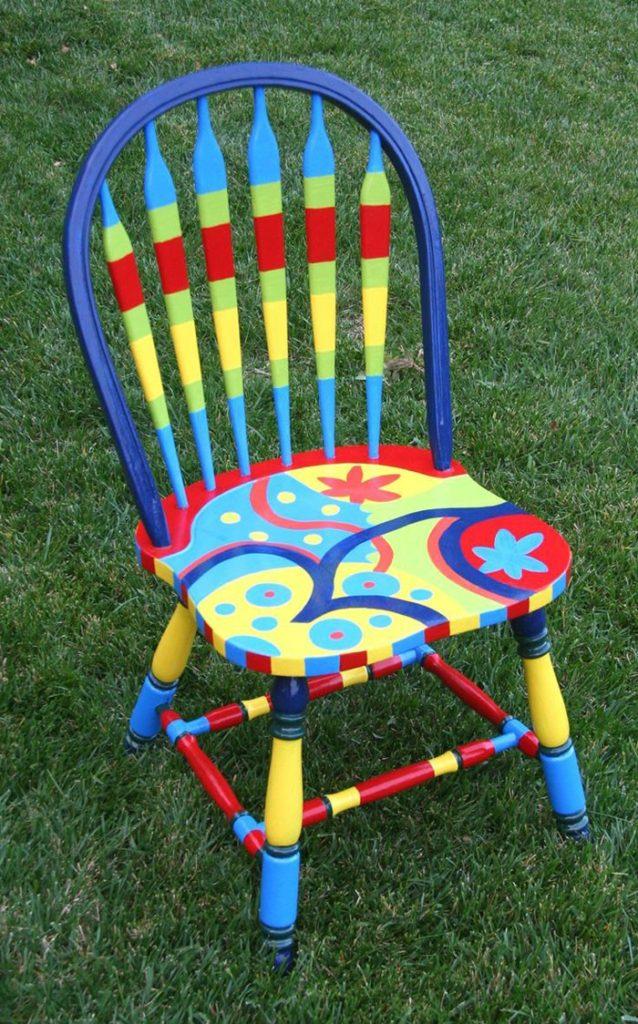 πώς να διακοσμήσετε και να βάψετε παλιές καρέκλες20