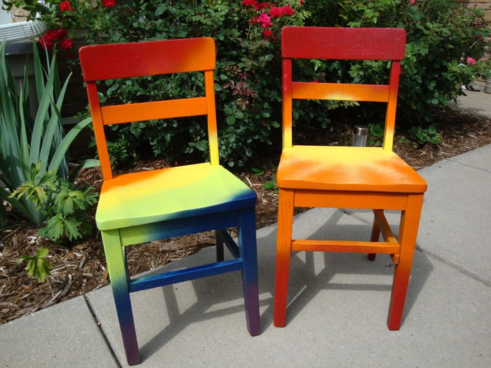 πώς να διακοσμήσετε και να βάψετε παλιές καρέκλες21