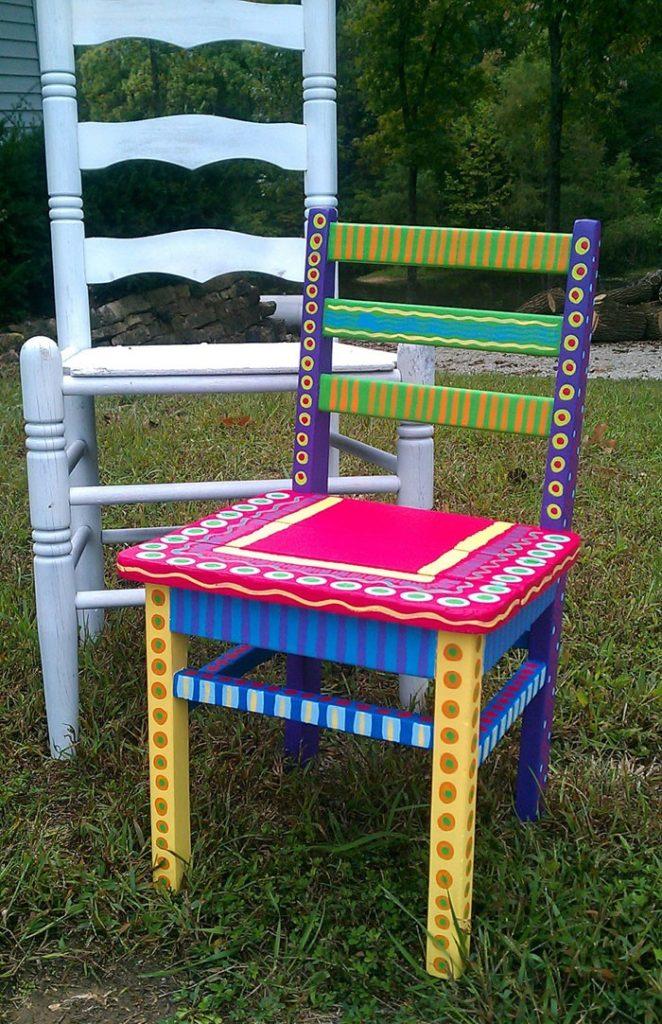 πώς να διακοσμήσετε και να βάψετε παλιές καρέκλες22