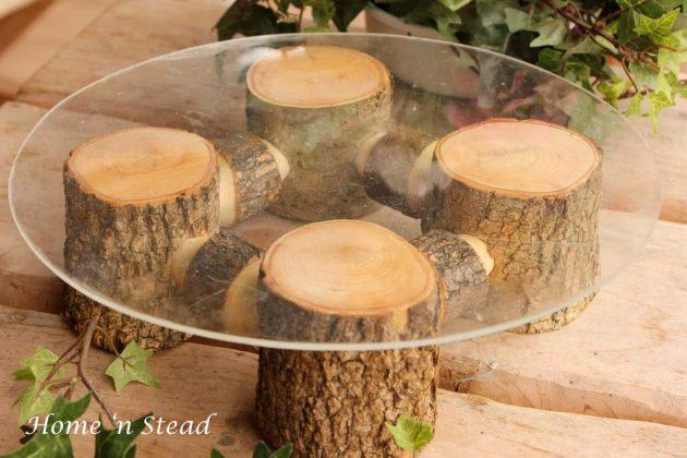 DIY ιδέες διακοσμήσης από κούτσουρα1