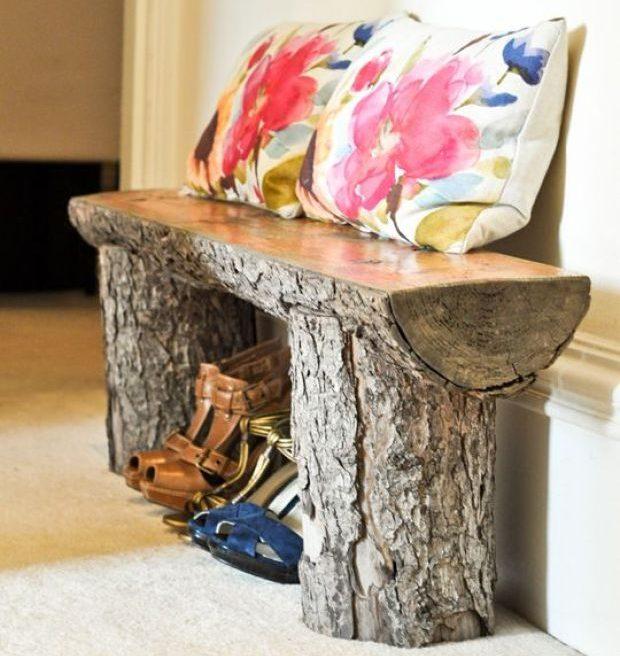 DIY ιδέες διακοσμήσης από κούτσουρα15