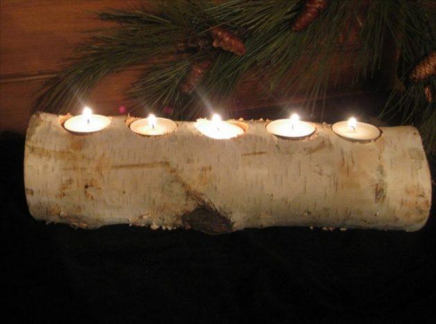 DIY ιδέες διακοσμήσης από κούτσουρα3