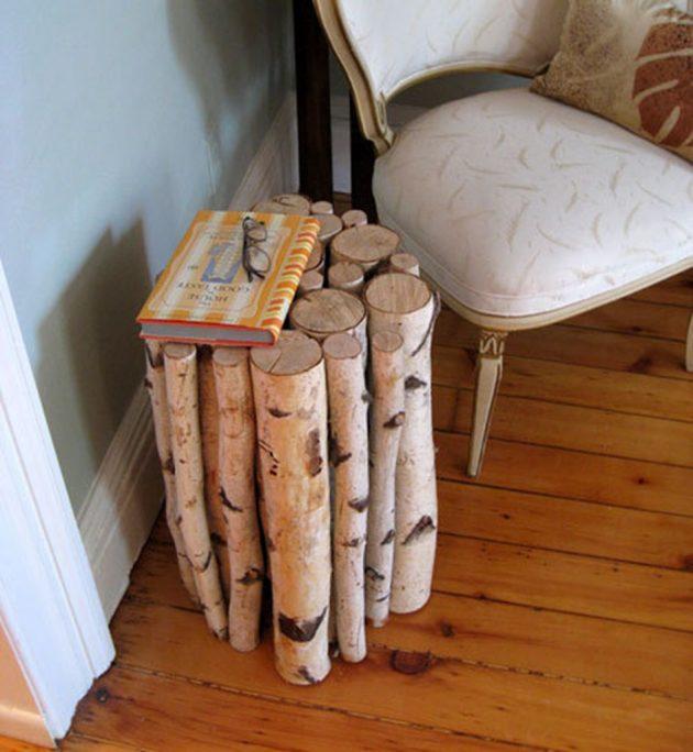 DIY ιδέες διακοσμήσης από κούτσουρα7