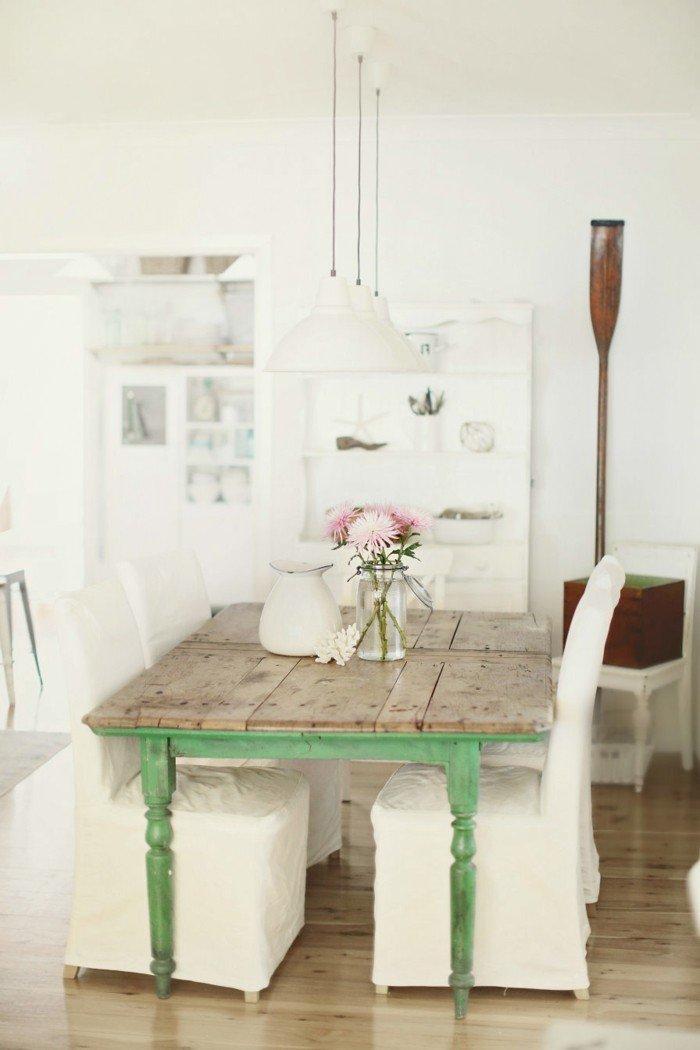 Τραπεζαρία Στυλ εξοχικού σπιτιού - 50 ιδέες εσωτερικής διακόσμησης