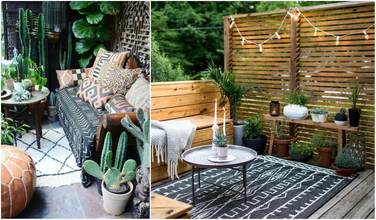 10 Εμπνευσμένοι Boho Chic Εξωτερικοί χώροι
